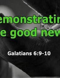 Demonstrating The Good News (18/10/2020)